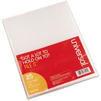 Project Folders, Jacket, Poly, Letter, Clear, 25/Pack from Universal