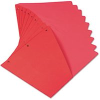 Slash-Cut Pockets for Three-Ring Binders, Jacket, Letter, 11 Pt., Red, 10/Pack from Universal