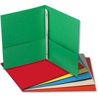 Two-Pocket Portfolios w/Tang Fasteners, 11 x 8-1/2, Assorted, 25/Box from Universal