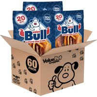 ValueBull Dog Treats, Beef Hide Straps, 6 Inch, 60 Count from ValueBull