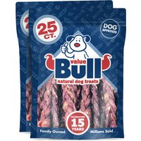 ValueBull Dog Chews, Lamb Gullet Braids, 6 Inch, 50 Count from ValueBull
