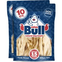 ValueBull Dog Chews, Lamb Hide Strips, 6 Inch, 20 Count from ValueBull