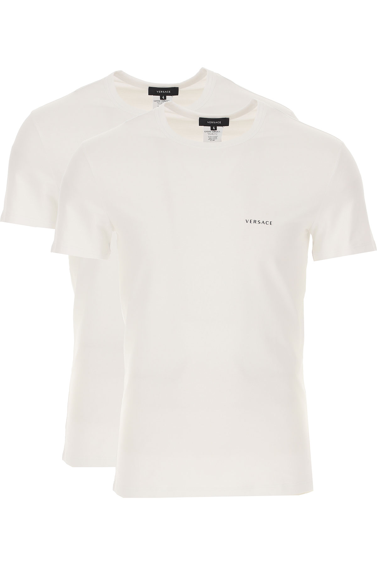 Versace T-Shirt for Men, 2 Pack, White, Cotton, 2021, L M S XS from Versace