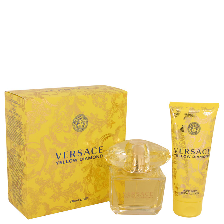 Versace Yellow Diamond for Women, Gift Set (3 oz EDT Spray + 3.4 oz Body lotion) from Versace