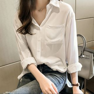 Long-Sleeve Plain Blouse from Vinales