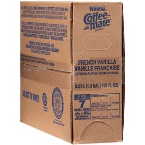 Coffee-mate French Vanilla Cold Creamer 1.5 gallon, Case of 3 BIBS from Vistar