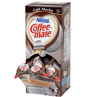 Coffee-mate Liquid Coffee Creamer Tubs - Café Mocha - 50ct Box, Case of 4/50ct Boxes from Vistar