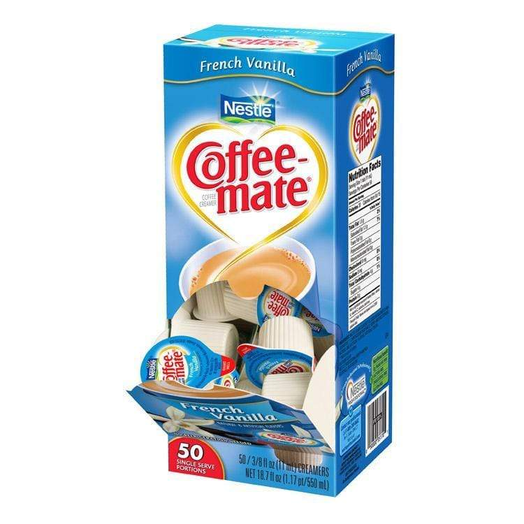 Coffee-mate Liquid Creamer Tubs - French Vanilla - 50ct Box, 50 Count Box from Vistar