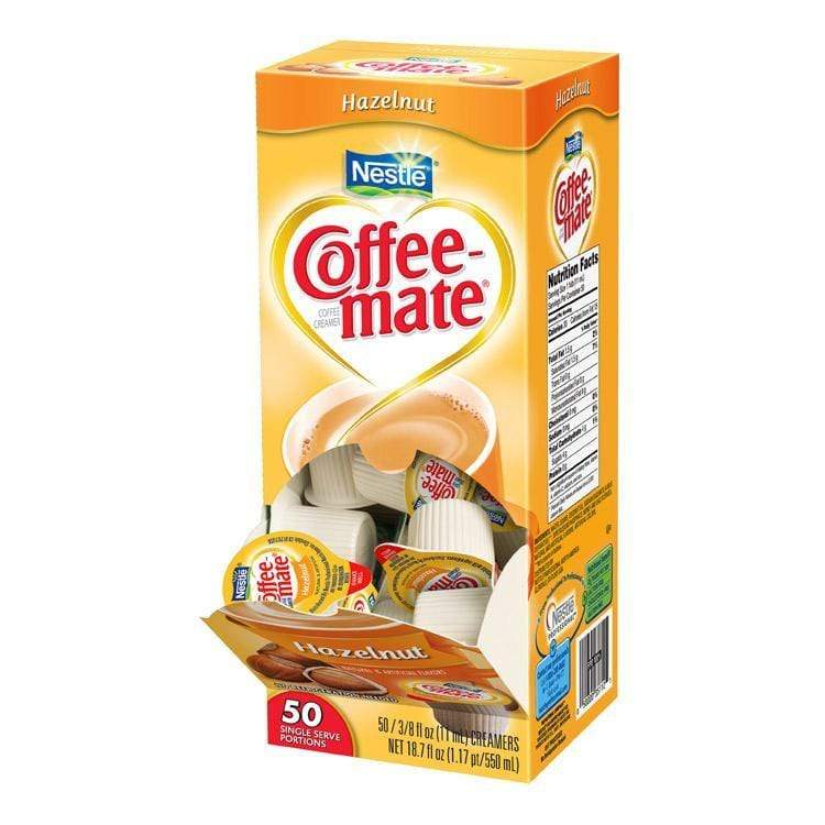 Coffee-mate Liquid Creamer Tubs - Hazelnut - 50ct Box, Case of 4/50ct Boxes from Vistar