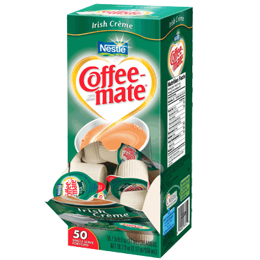 Coffee-mate Liquid Creamer Tubs - Irish Crème - 50ct Box, Case of 4/50ct Boxes from Vistar