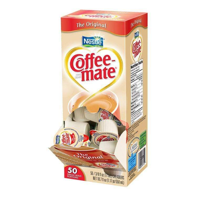 Coffee-mate Liquid Creamer Tubs - Original (Unflavored) - 50ct Box, Case of 4/50ct Boxes from Vistar