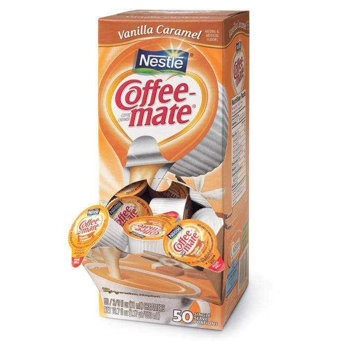 Coffee-mate Liquid Creamer Tubs - Vanilla Caramel - 50ct Box, Case of 4/50ct Boxes from Vistar