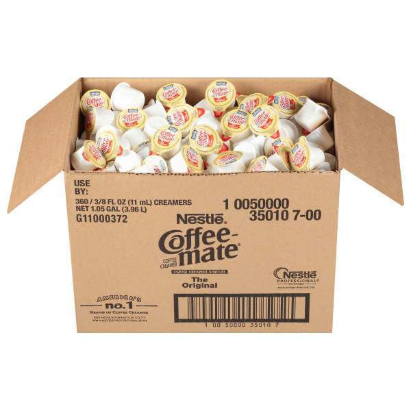 Coffee-mate Original Liquid Creamer Singles, 360 Count Cups from Vistar