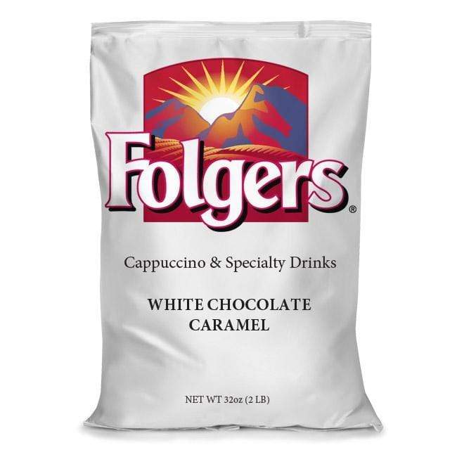 Folgers Cappuccino Mix - White Chocolate Caramel - 2lb Bulk Pack, Case of 6 Bags from Vistar