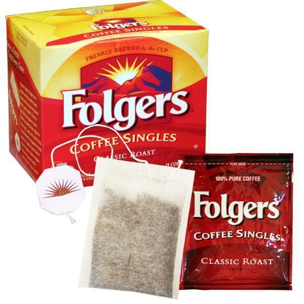 Folgers Single Cup Coffee Bags - Regular, 19 Count Box from Vistar