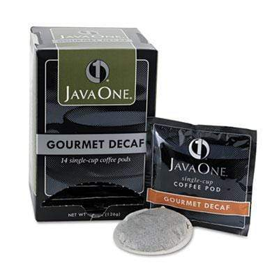 Java One Coffee Pods - Gourmet DECAF (Colombian), 14ct Box from Vistar
