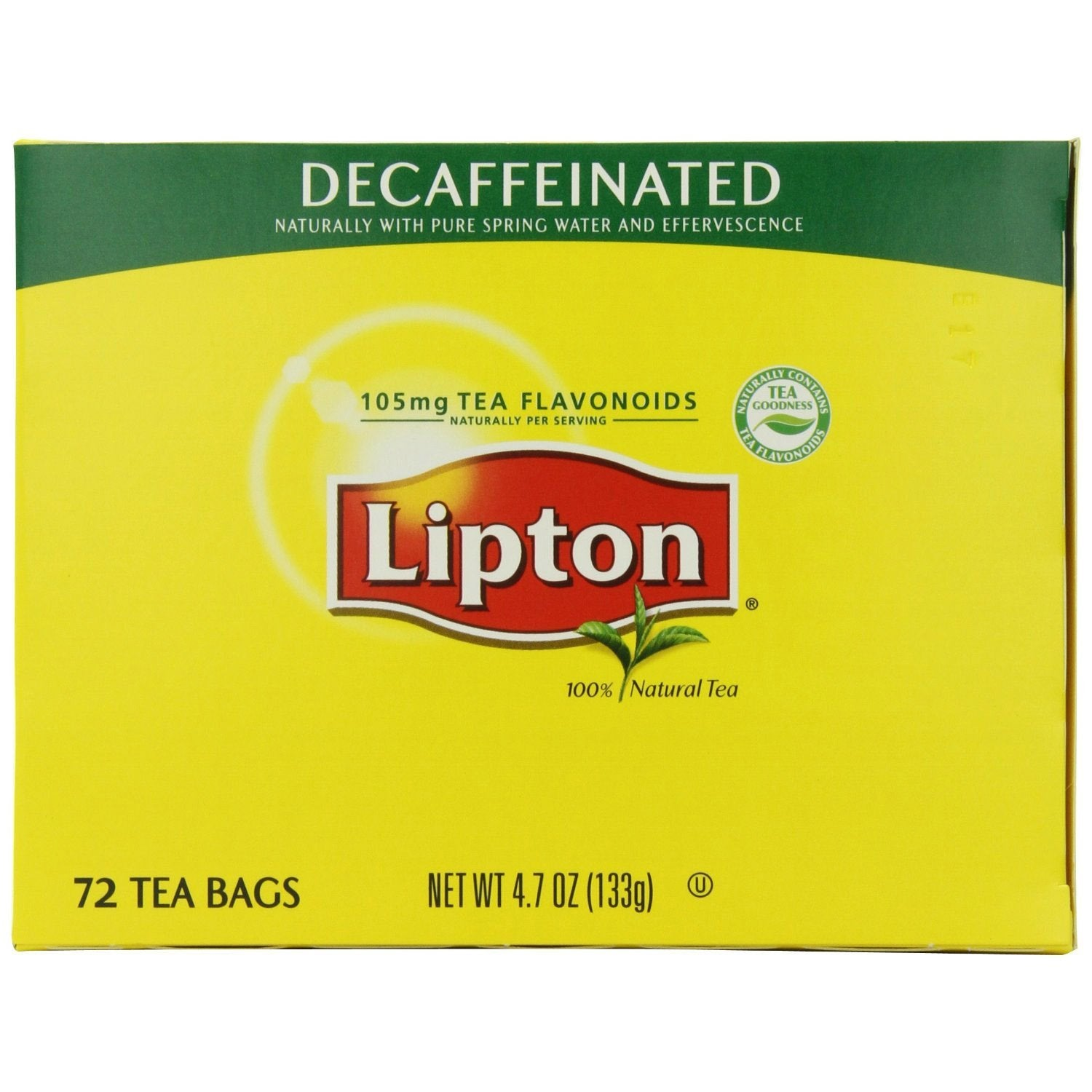 Lipton Tea Bags - All Natural - DECAF - 72ct Box, Cases of 6 Boxes from Vistar