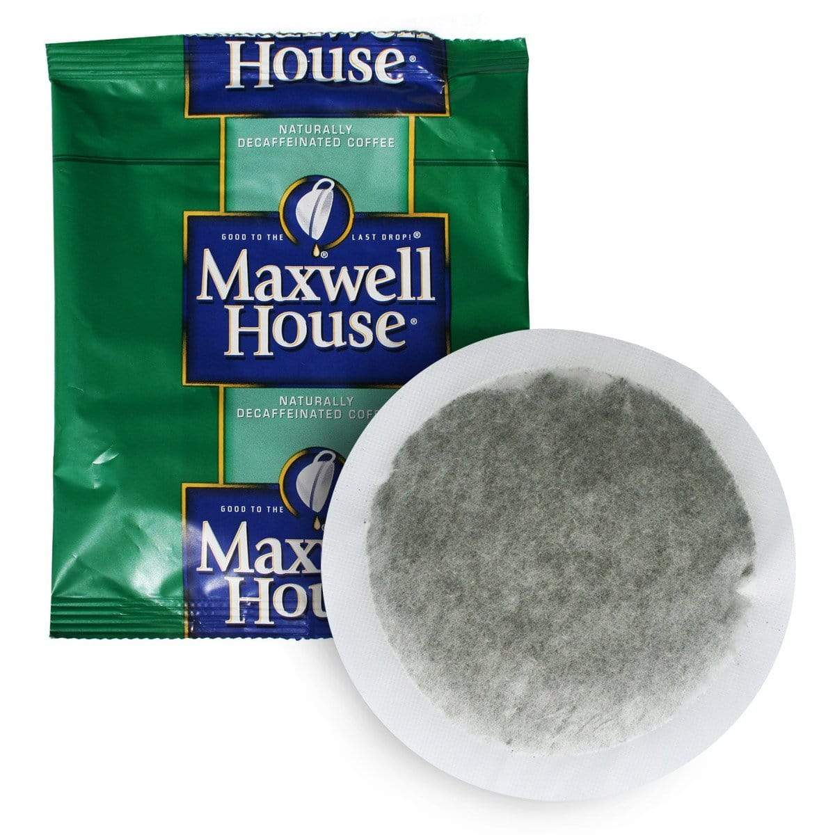 Maxwell House Hotel Filter Pack Coffee - DECAF - In Room 4 Cup Size (0.7oz), Pack of 100 from Vistar