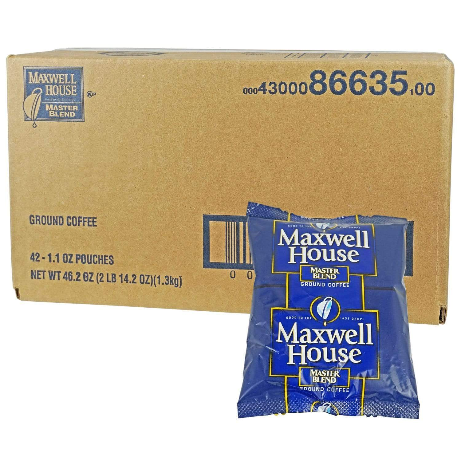 Maxwell House Master Blend Packs 42 Count - 1.1 oz. from Vistar