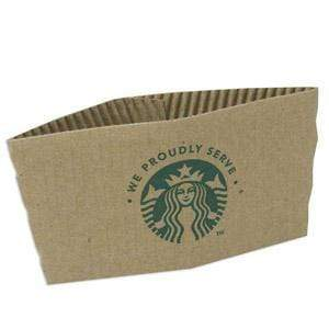 Starbucks Cup Sleeves (Corrugated Wraps) - Box of 1,380 from Vistar