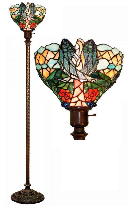 Tiffany Style Angelic Torchiere by Warehouse of Tiffany 2867 BB75B from Warehouse of Tiffany