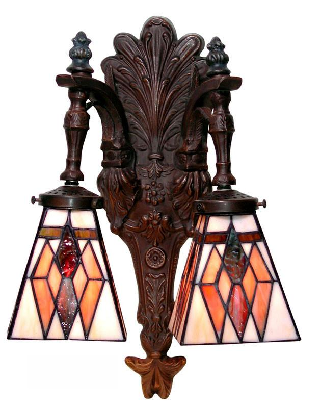 Tiffany Style Double Wall Sconce by Warehouse of Tiffany 289 x2 BB359 from Warehouse of Tiffany