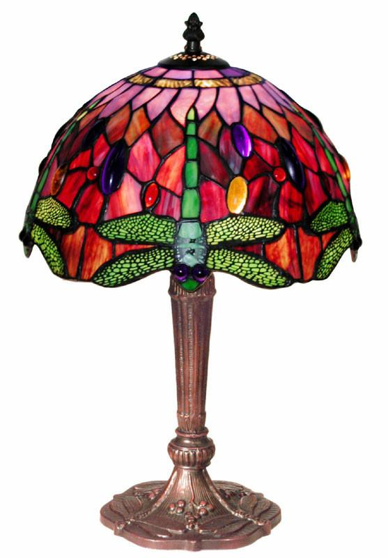 Tiffany Style Dragonfly Table Lamp by Warehouse of Tiffany 305C MB45 from Warehouse of Tiffany