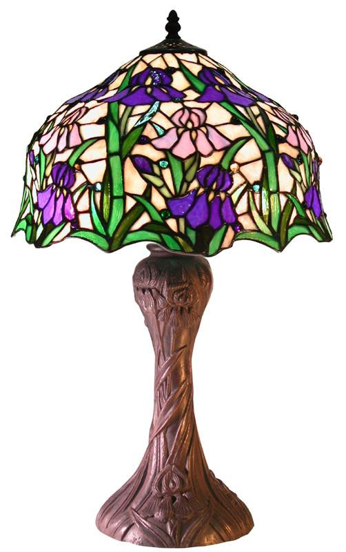 Tiffany Style Iris Table Lamp by Warehouse of Tiffany 2380 BB664 from Warehouse of Tiffany