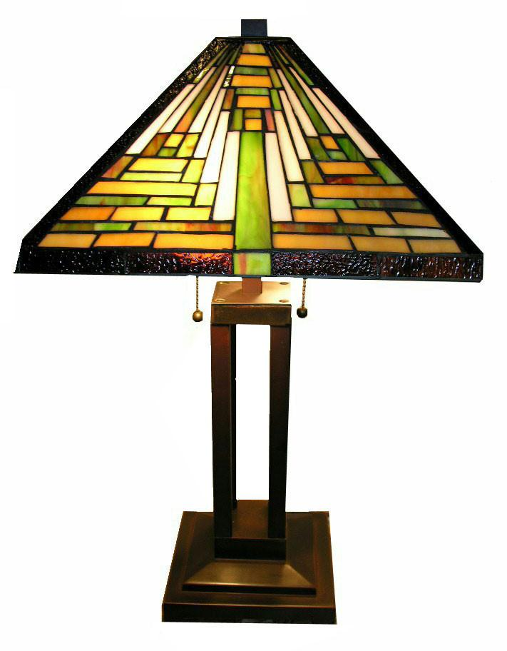 Tiffany Style Mission Table Lamp by Warehouse of Tiffany TBS2008/D70 from Warehouse of Tiffany