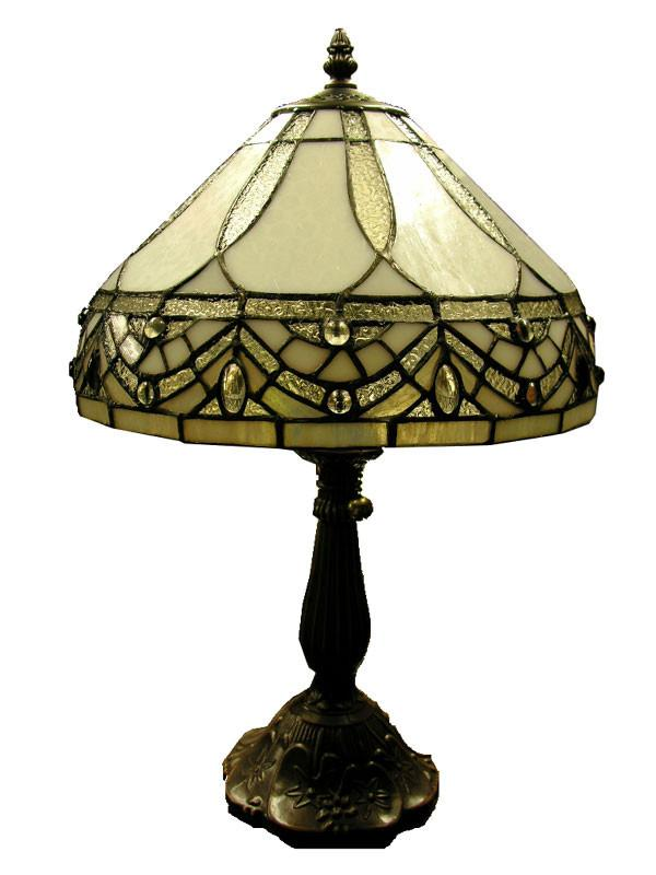 Tiffany Style White Jewels Table Lamp by Warehouse of Tiffany 1150 MB06S GG from Warehouse of Tiffany