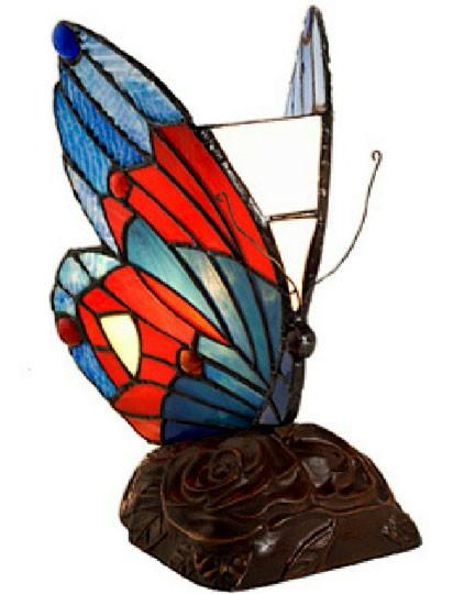 Tiffany-style Green Butterfly Table Lamp by Warehouse of Tiffany TU3022 from Warehouse of Tiffany
