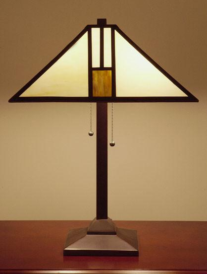 Tiffany-style White Mission-style Table Lamp by Warehouse of Tiffany T18M111 from Warehouse of Tiffany