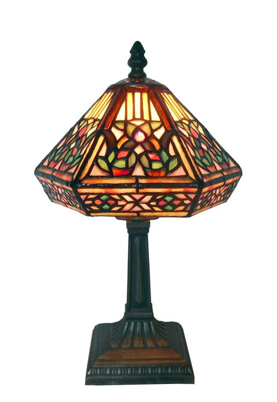 Warehouse of Tiffany 766 SB86 or NHS081234-533S Tiffany Style Floral Mosaic Table Lamp from Warehouse of Tiffany