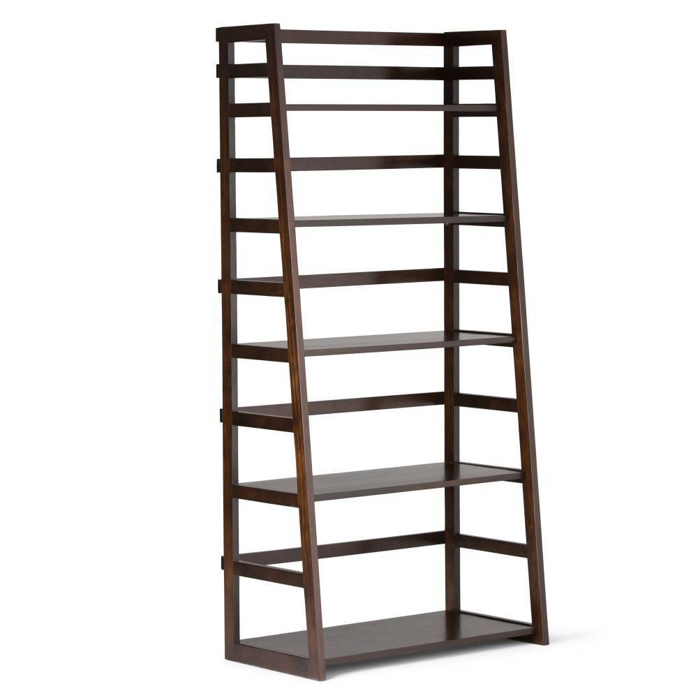"63""x30"" Normandy Ladder Shelf Bookshelf Brown - WyndenHall from WyndenHall"