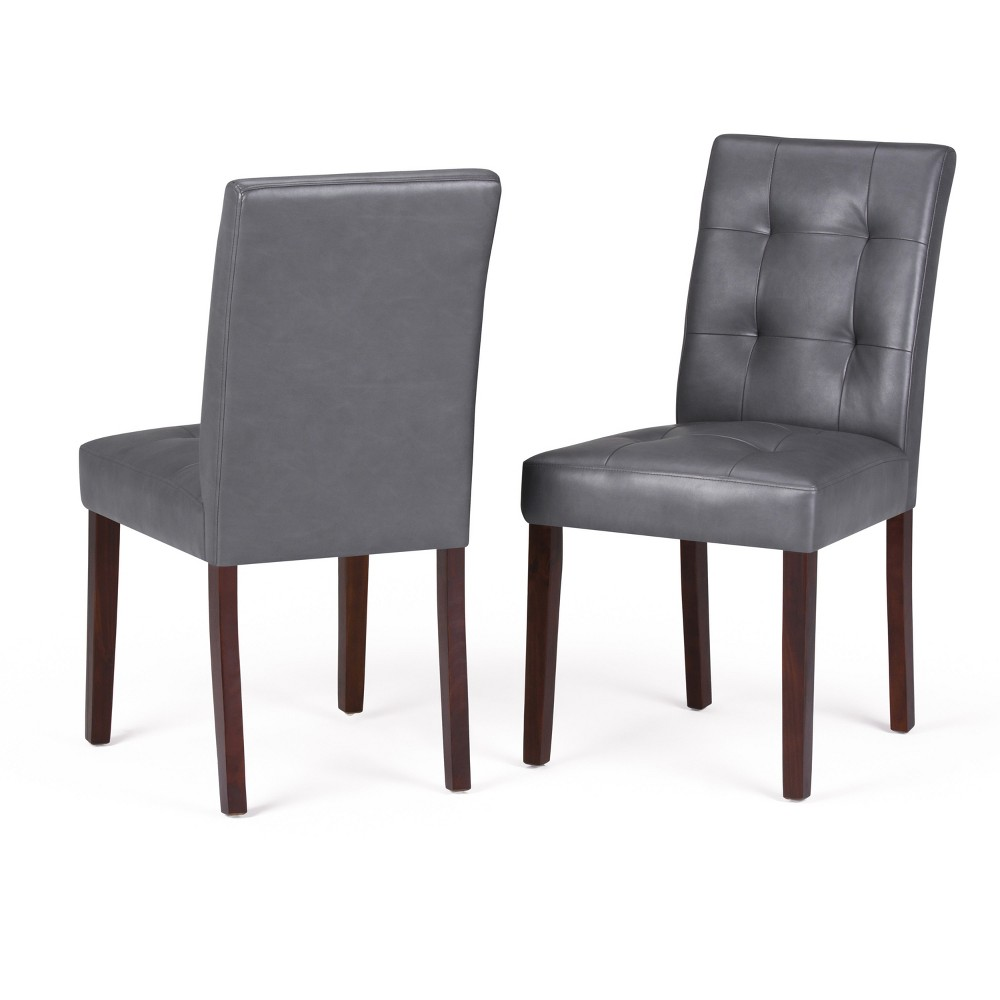 Set of 2 Jefferson Parson Dining Chairs Stone Gray - WyndenHall from WyndenHall