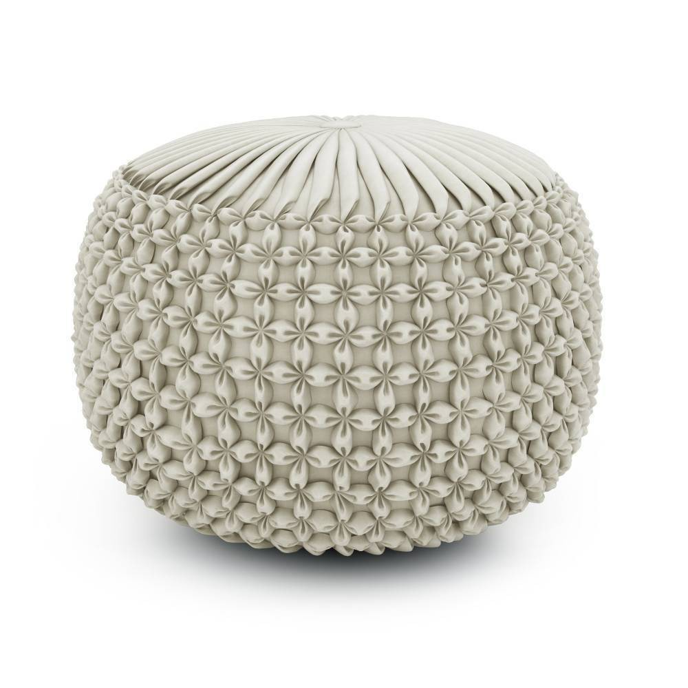 Vanessa Round Pouf Cream - WyndenHall from WyndenHall