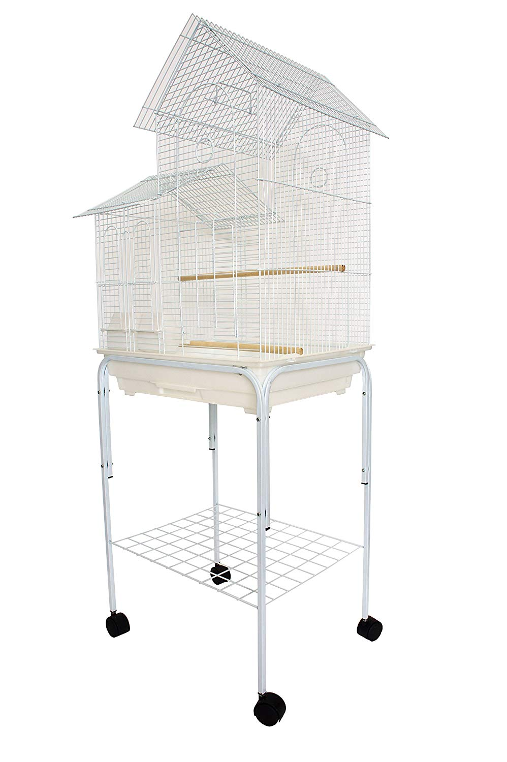 "YML 1/2"" Bar Spacing Villa Top Bird Cage with Stand from YML Group"