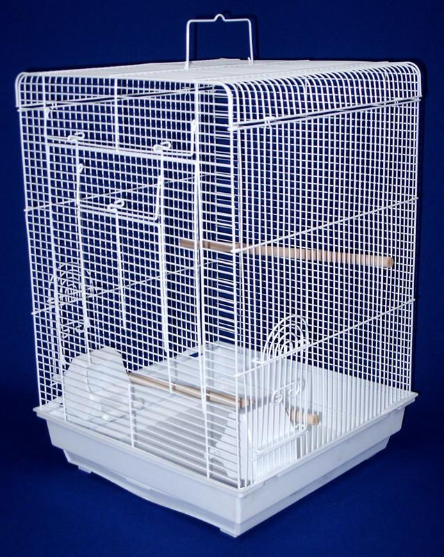 "YML Group 1624WHT 3/8 Flat Top Cage in 16x16"", White from YML Group"