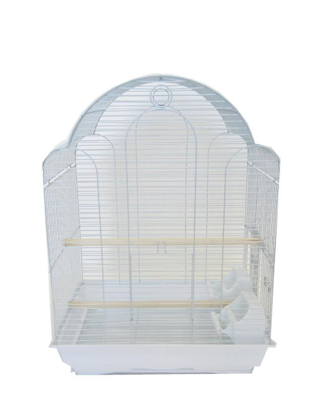 "YML Group 1784WHT 3/8"" Bar Spacing Barn Top Bird Cage, White from YML Group"
