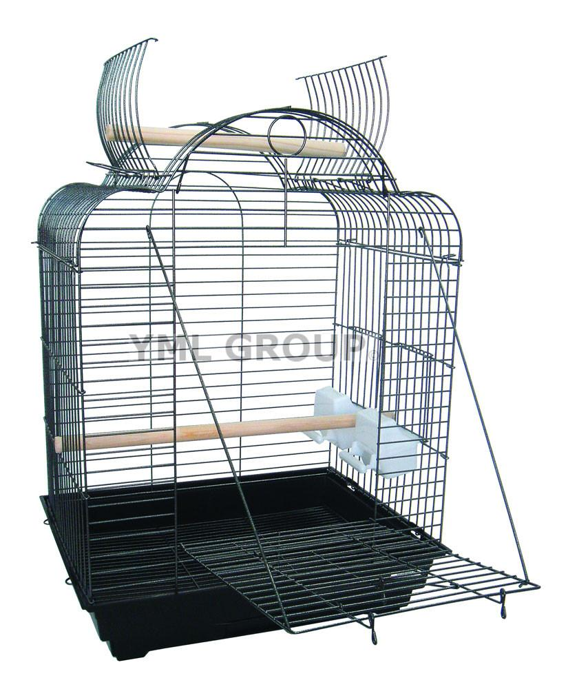 "YML Group 1904BLK 3/4"" Bar Spacing Open Dome Top Small Parrot Bird Cage - 20""x16"" In Black from YML Group"