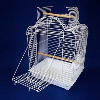 "YML Group 1904WHT 3/4"" Bar Spacing Open Dome Top Small Parrot Bird Cage - 20""x16"" In White from YML Group"