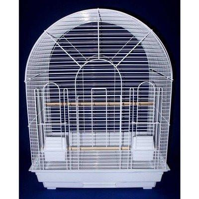 "YML Group 1934WHT 1/2"" Bar Spacing Round Top Small Bird Cage - 20""x16"" In White from YML Group"