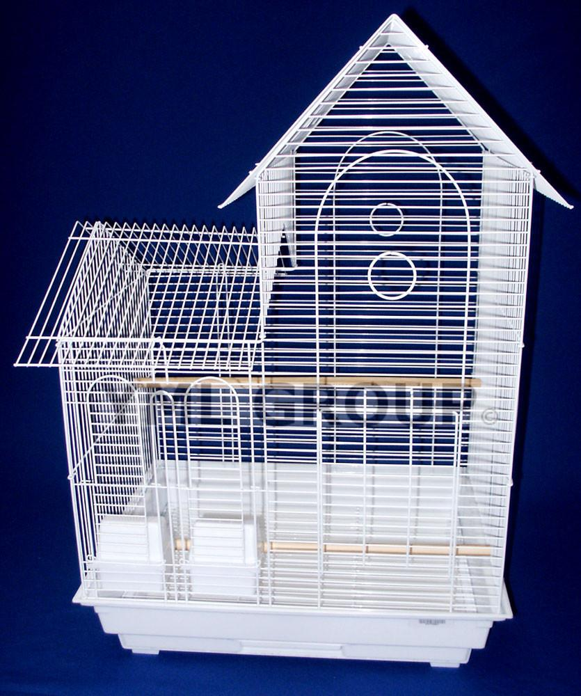 "YML Group 1944WHT 1/2"" Bar Spacing Villa Top Small Bird Cage - 20""x16"" In White from YML Group"