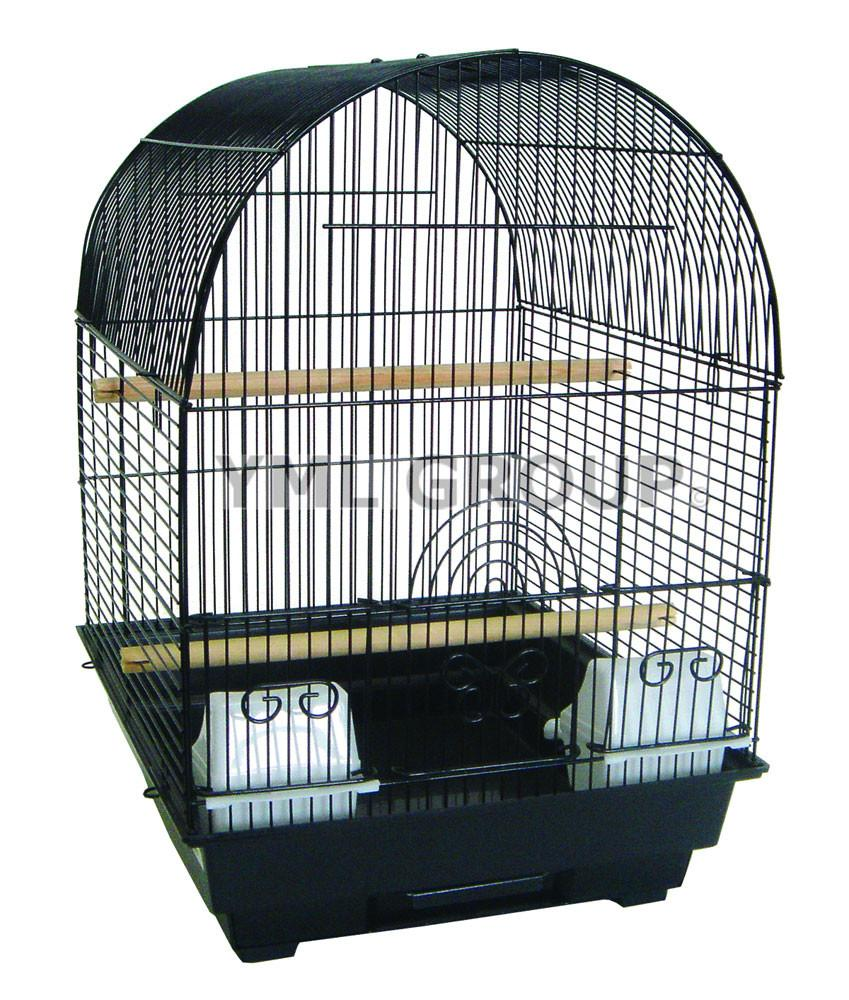"YML Group 5604BLK 3/8"" Bar Spacing Round Top Cage, 14x16"" in Black from YML Group"