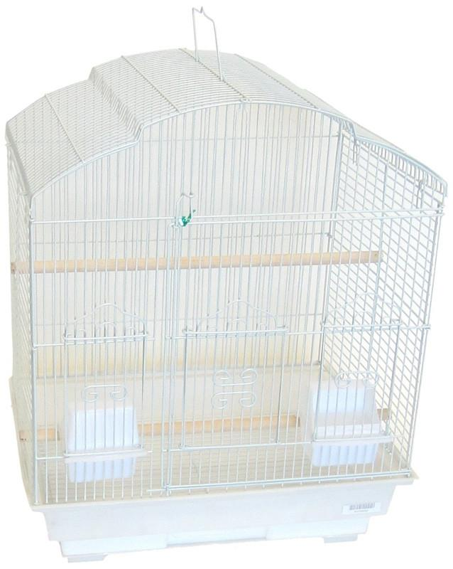 "YML Group 5804WHT 5804 3/8"" Bar Spacing ShellTop Small Bird Cage - 18""x14"" In White from YML Group"