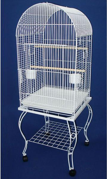 "YML Group 600AWHT 20"" Dometop Parrot Cage With Stand - White from YML Group"