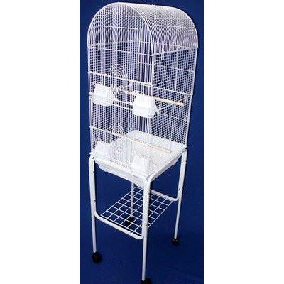 "YML Group 6604_4614BLK 3/8"" Bar Spacing Tall Round 4 Perchs Bird Cage With Stand,, Black from YML Group"