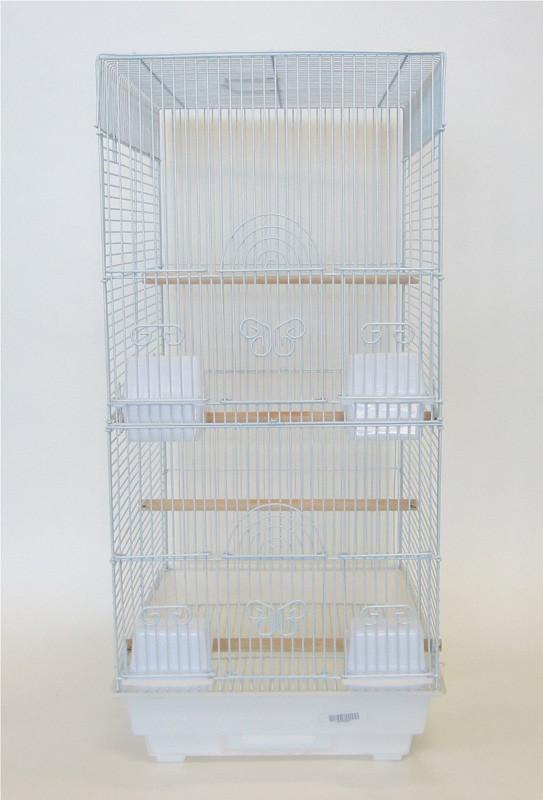 "YML Group 6624WHT 3/8"" Bar Spacing Tall Square 4 Perchs Bird Cage, White from YML Group"