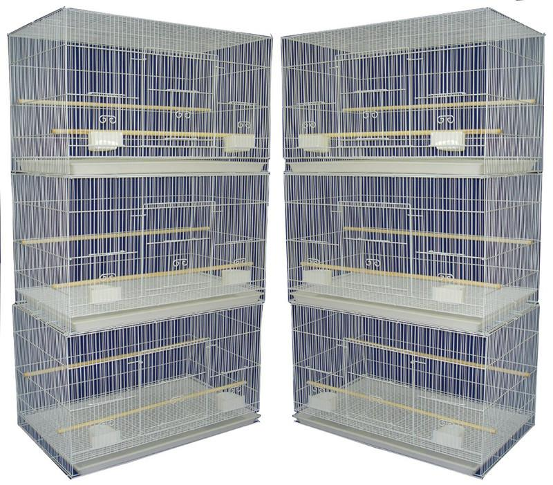 YML Group 6x2424WHT Lot of 6 Small Breeding Cages, White from YML Group