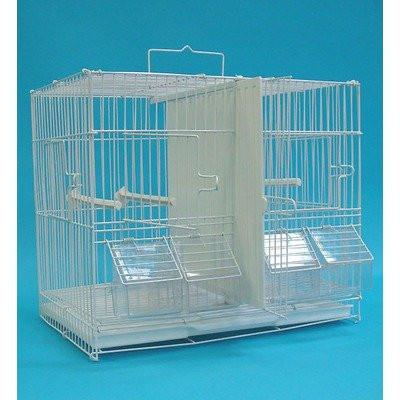 YML Group 6x2424WHT and 1x 4134WHT Lot of 6 Small Breeding Cages with One 4 Tie Stand - White from YML Group